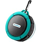 #8: VicTsing Shower Speaker, Wireless Waterproof Speaker with 5W Driver, Suction Cup, Built-in Mic, Hands-Free Speakerphone-Blue