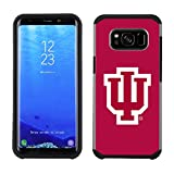 Prime Brands Group Textured Team Color Cell Phone Case for Samsung Galaxy S8 Plus - NCAA Licensed Indiana University Hoosiers
