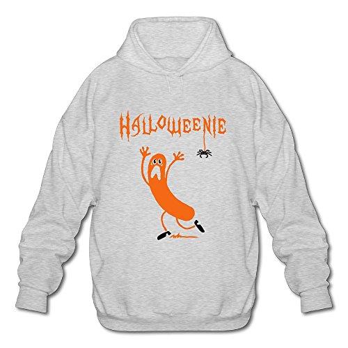 HAPPY NISE Halloweenie A Running Sausage Sweater SizeM ColorAsh