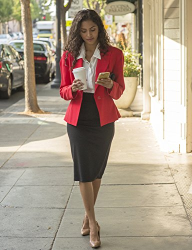 Simlu Womens Pencil Skirt for Office Wear