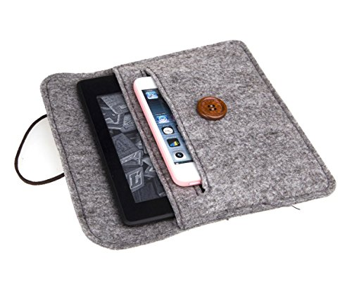 Bear Motion for Kindle - Premium Felt Sleeve Case for Kindle Paperwhite and Kindle Voyage ()