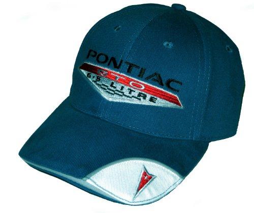 Pontiac GTO Hat 6.5 Litre Cap Blue Racing Decal Included (Pontiac Racing Decals)