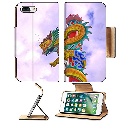 Liili Premium Apple iPhone 7 Plus Flip Pu Leather Wallet Case Dragon Poles move towards a pan sculpture sky Symbol of faith that conveys power fortune and iPhone7 Plus Image ID 22295399 - Architectural Pan