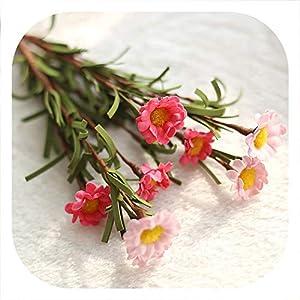 Memoirs- 10Pcs Pe Simulation Artificial Flower Bouquet Chrysanthemum for Wedding Party Decoration DIY Gift Box Daisy Fake Flowers,3 9