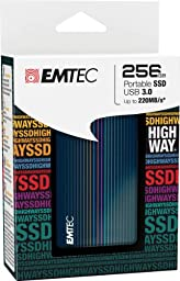 EMTEC Highway 256 GB USB 3.0 Solid State Drive