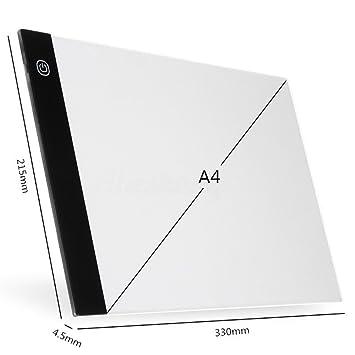 Amazon.com: asosmos A4 USB tablero de Art Stencil LED luz de ...