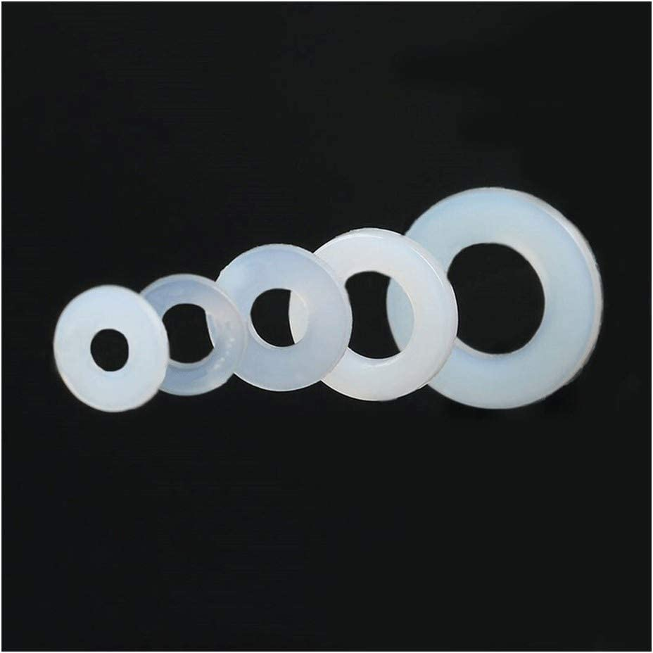 Size : 50pcs M6X12X1.5 Flat Washers 50Pcs Plastic Nylon Washer Plated Flat Spacer Seals Washer Gasket Ring Washers Fastener Hardware Accessories Fittings M3 M4 M6 Stainless Flat Washer