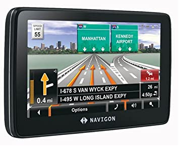 Amazoncom Navigon T Inch Portable GPS Navigation With - Gps amazon com