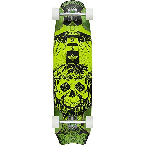 Dusters California Skateboards Bones Green Longboard Complete Skateboard - 9.5