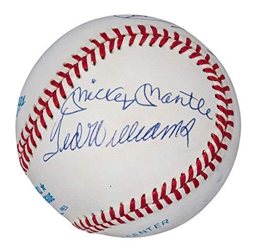 (MINT Mickey Mantle Ted Williams Yastrzemski Triple Crown Signed Baseball BAS COA - Beckett Authentication)