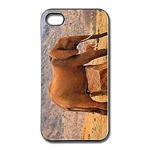 Custom Cool Plastic Anti Slip Grounded Elephant Iphone 4 Case