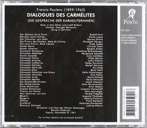 Poulenc - Dialogues des Carmélites (+ discographie) - Page 5 51OewQaRC0L