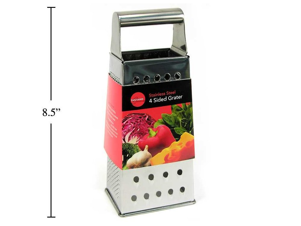 8.5-inch Deluxe 4 Sided Box Grater, Stainless Steel CTG