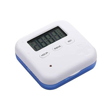 Healifty Organizador de Píldora Digital Dispensador de Pastillas Automático Electronic Organizador de Medicamento con Recordatorios de