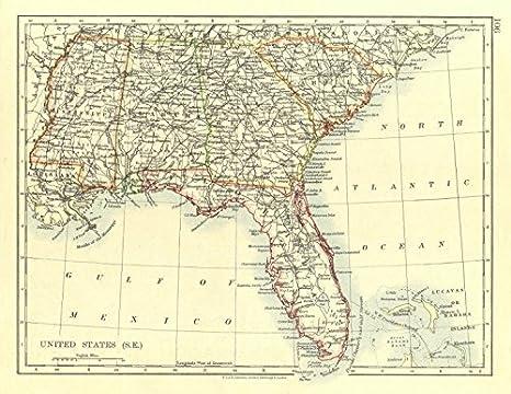 Amazon.com: USA DEEP South. Florida South Carolina Georgia ...