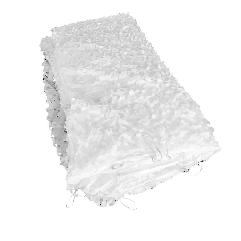 XING ZI tarpaulin X-L-H Weißer Sonnenschutz mit Kordelzug, Winterschneetarnnetz