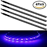 knight rider lights for car - EverBright? 4-Pack Blue 30CM 1210 32-SMD DC 12V Knight Rider Flexible LED Strip Light For Car motorcycles Decoration Interior Exterior Atmosphere Lamp Bulbs with built-in 3M Tape