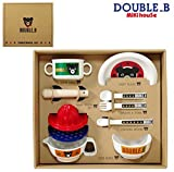 ''Miki House'' double-B box dishwasher OK tableware set baby tableware set made in Japan