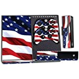 Cheap Designer Skin Sticker for the Xbox One Console With Two Wireless Controller Decals Stars & Stripes