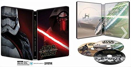 Star Wars: The Force Awakens SteelBook with Bonus Content - Blu Ray + DVD + Digital HD