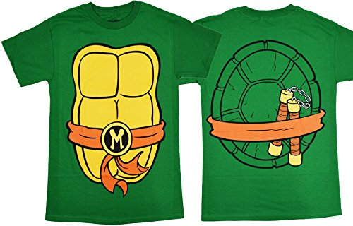 [Teenage Mutant Ninja Turtles Costume Mens T-shirt (Extra Large , Michelangelo)] (Ninja Costume Man)
