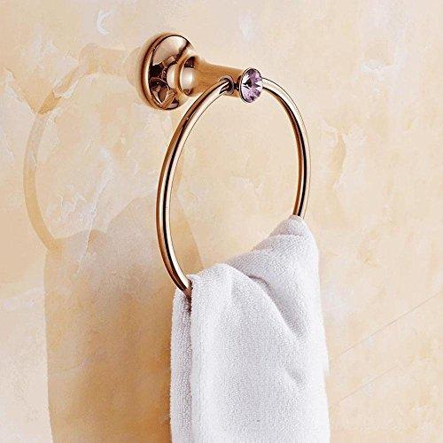 LINA@ European antique gold plated pink diamond rose gold towel ring , bronze (Diamond Antique Ring Pink)