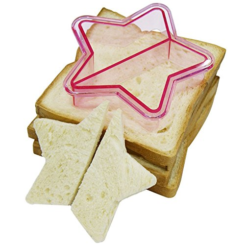 BeautyShe Sandwich cutters,Stamp Kit press and sealer,bread &cake mold,ckkie cutters for kids, adult,
