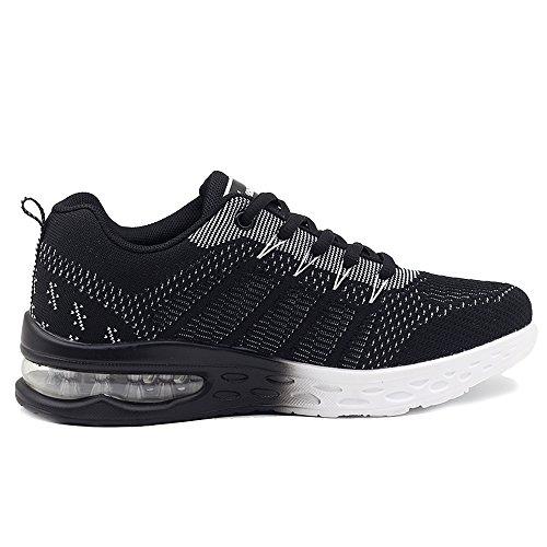 JARLIF Women's Athletic Running Sneakers Air Fitness Sport Workout Gym Tennis Walking Shoes Black 8 B(M) US by JARLIF (Image #2)