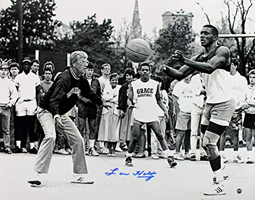 (Notre Dame Lou Holtz Autographed Signed 16X20 Photo with Tim Brown Steiner Holo/COA)