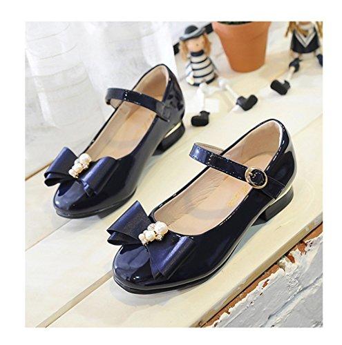 d6ddafa53446 Flyrioc Girl s Little Heel Ballet Dress Shoes Princess Mary Jane Floral  Dress (Little Kid