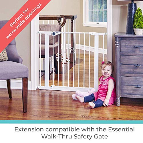 5107 North States 4-Bar Extension for Essential Walk-Thru Baby Gate Adds 12 Width, White Add Extension for a gate up to 49.1 Wide