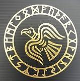 Odins Raven Rune Circle Vinyl Decal