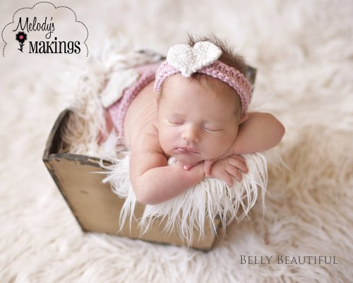 Sweetheart Diaper Cover and Headband Set Knitting Pattern