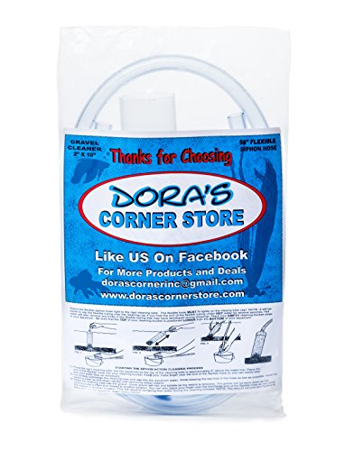 Doras-Corner-Store-2x10-Inch-Vacuum-Water-Siphon-with-Self-Starter-Gravel-Cleaner-for-Aquarium