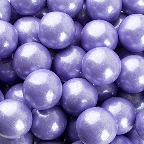 Lavender Candy Buffet (Gumballs for Candy Buffet and Party Favors - 2 LB Flavored 1 Inch Wedding Gumballs - Oh! Nuts (Lavender Shimmer Pearl)