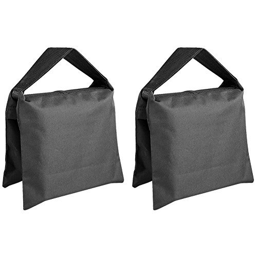 SODIAL(R) Heavy Duty Photographic Sandbag Studio Video Sand Bag for Light Stands, Boom Stand, Tripod -2 Packs Set by SODIAL(R)