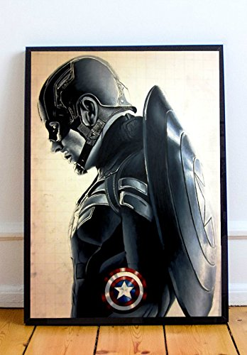 Captain America Poster (Captain America Limited Poster Artwork - Professional Wall Art Merchandise (More)