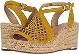 Franco Sarto Women's Celestial Espadrille Wedge Sandal Summer Yellow 9.5 M US
