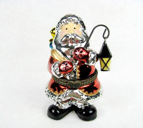 Santa Christmas Trinket Box