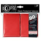 PRO-Matte Eclipse Red Standard Deck Protector sleeves (80 count pack)