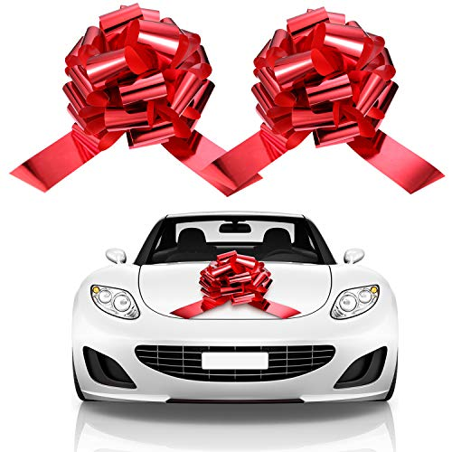 2 Sets Car Bows 16 Inch Giant Bows