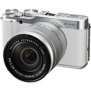 Fujifilm X-A2 Mirrorless Digital Camera with 16-50mm Lens (White) - International Version (No Warranty)