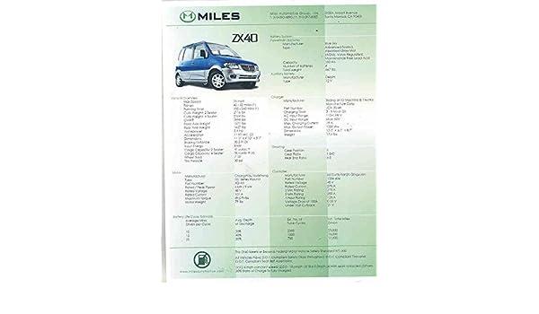 Amazon com: 2008 ? Miles ZX40 Electric Car Brochure China