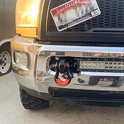 ELITEWILL Custom Heavy Duty Front Tow Hooks Dodge Ram 2500/3500 2010-2020: Automotive