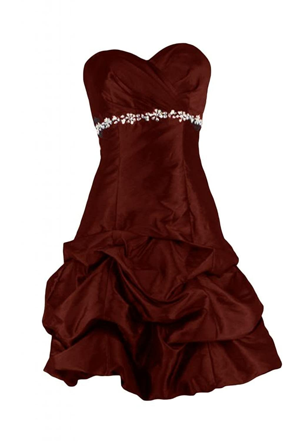 Sunvary Charming Satin Rhinestones A-Line Sweetheart Cocktail Dress Formal Prom Dress