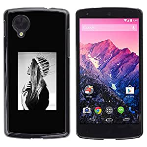 Paccase / SLIM PC / Aliminium Casa Carcasa Funda Case Cover para - Fashion Santa Lucia Saint God Black White - LG Google Nexus 5 D820 D821