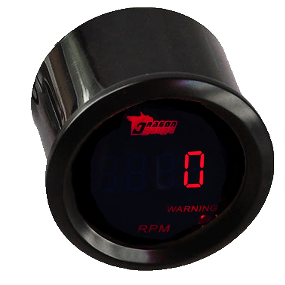 Etopars/™ 2 52mm Black Car Auto Digital Red LED Light Volt Voltage LED Gauge Meter