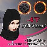 Balaclava Fleece Hood for Women Kids Thick Ski Face