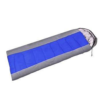 BFMEI Las Tres Cuartas Partes La Envoltura con Capucha Sacos De Dormir Acampar Al Aire Libre Saco De Dormir,201 * 75cm-GrayBlue1.65kg: Amazon.es: Hogar