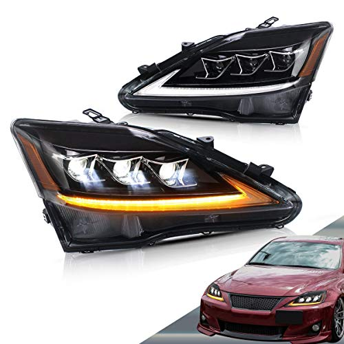 VLAND LED Headlights for Lexus IS250 IS350 IS F 2006-2012 with Sequential (Also fit Lexus IS 220d) YAA-IS-0303H